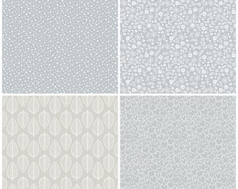 ESSENTIALS COLLECTION in Pewter by Makower 100% Cotton Fabric Grey Slate Blender Quilting