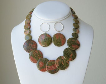 Circles - Unakite  SET