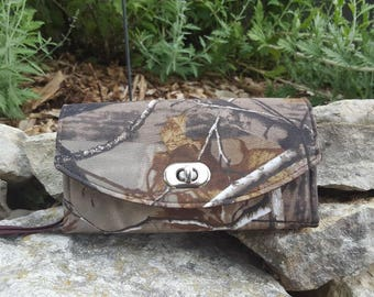 Ready to Ship: Camoflage themed Necessary Clutch Wallet, Camo Wallet, Ladies Camo Clutch, NCW, Green Camo Wallet, Camoflage Clutch