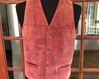 Vintage 1990's John Blair Leather Western Style Vest