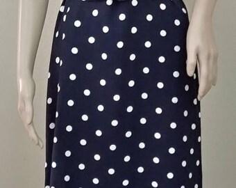 Vintage Polka Dot Dress Black and White