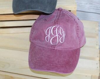 Monogrammed Baseball Cap, Bridesmaid Gift, Groomsman Gift, Personalized, Monogrammed Hat, Personalised