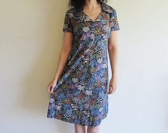 Vintage Floral House Day Shift Dress