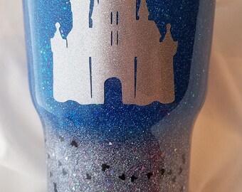 Dream is a Wish Castle Glitter Tumbler