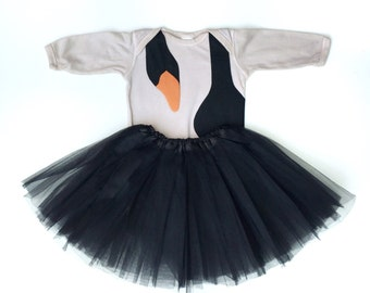 Black Swan Costume, Baby Black Swan, Bird Halloween Costume, Funny Halloween, Baby Ballerina, Tutu Costume