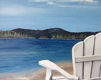 Sit with me on Manitoulin Island landscape original painting
