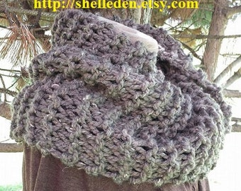 PDF EASY Knitting Pattern for Bulky Cowl Knit on straight needles