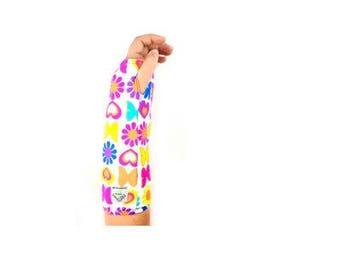 Fashionable Arm Cast Cover, Butterflies-Flowers-Hearts, for Short Arm Cast
