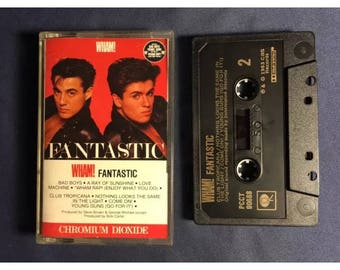 Wham! Fantastic Cassette Tape Original From 1983