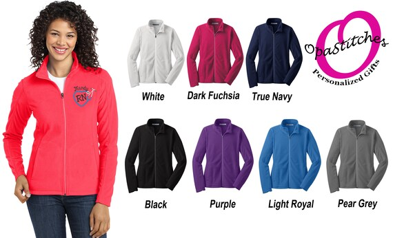 Bulk Nurse Fleece Jackets for Groups Hospitals Departments Medical  Specialty Units Embroidered Doctor Personalized