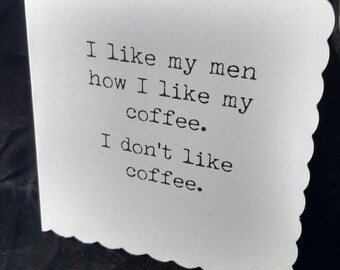 Coffee / funny / card / love / blank / lesbian / gay / friends /
