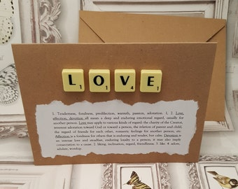 Love, I love you, Love card, You are loved, Love you card, Love is love, Anniversary card, Card for her, Card for him, Card for girlfriend