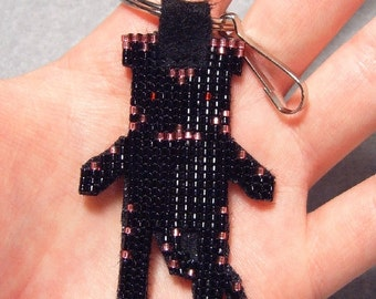 "Beaded ""Black Tiger Doll"" Keychain/Pendant"