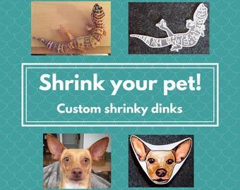 Shrink your pet! Custom shrinky dinks