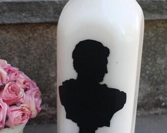Upcycled Vintage Glass Milk Bottle