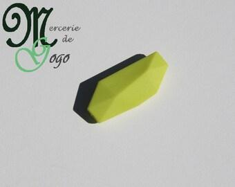 Pearl silicone flat Apple green geometric shape.