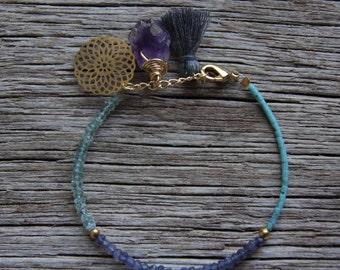 Iolite Bracelet / Prasiolite Bracelet / Bohemian Bracelet