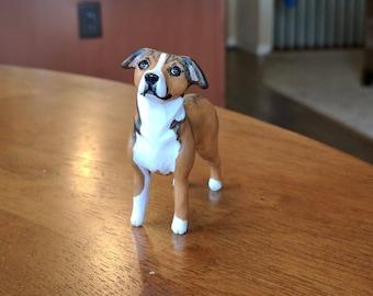 Custom Memorial Dog Sculpture Using Your Photos