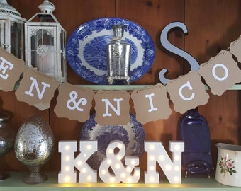 Personalized wedding sign