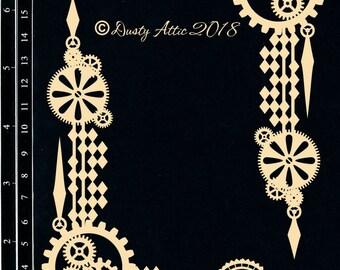 Dusty Attic, DA1952, Industrial Corners , Scrapbooking, Chipboard, Card Making, Mixed Media, DYI crafts