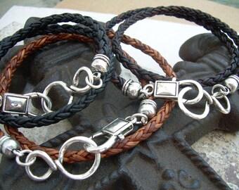 Infinity Bracelet, Leather Bracelet, Leather Infinity Bracelet,  Mens Bracelet, Womens Bracelet,