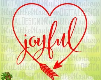 Joyful Heart Shaped Arrow One Layer Welded Design Clip Art & Cut File 300 dpi Jpeg Png SVG EPS DXF Instant Download