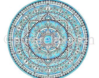 A4 Mandala Blue