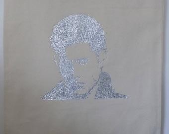 Handmade tote bag, Dean Winchester, Jenson Ackles portrait, supernatural