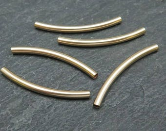 Gold Filled Curved Tube 25mm x 2mm