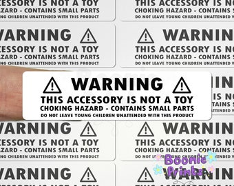 Warning stickers / Notice / rectangle stickers / personalised stickers / Product / saftey / caution /
