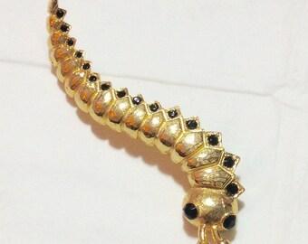 Vintage Goldtone Centipede Pin