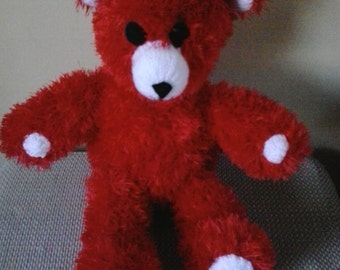 Knitted Tinsel/Furry Teddy Bears  Large