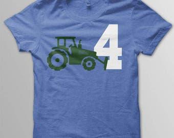 Tractor birthday shirt toddler construction birthday shirt Toddler birthday tractor theme
