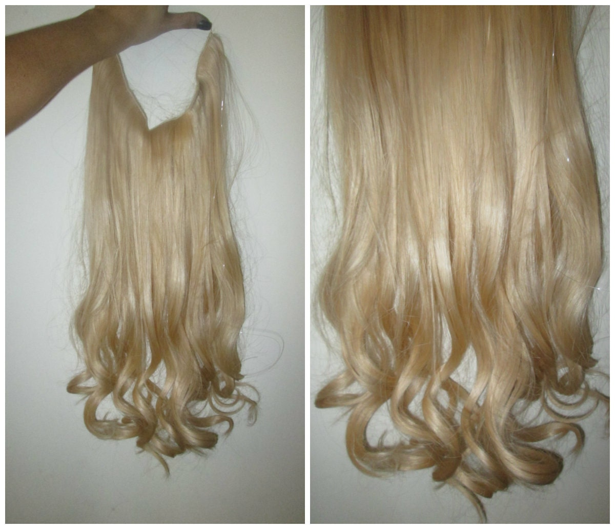 24 Ash Blonde The Syn Invisible Hair Extensions Flip Angel