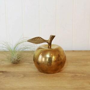 Brass Apple Bell, Vintage Apple Decor, Brass Bell, Brass Accents, Home Decor