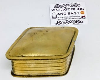 VINTAGE brass box, brass Trinket box, brass jewelry box, storage, trinket box, vintage box, vintage jewelry box, brass box, Trinket boxes