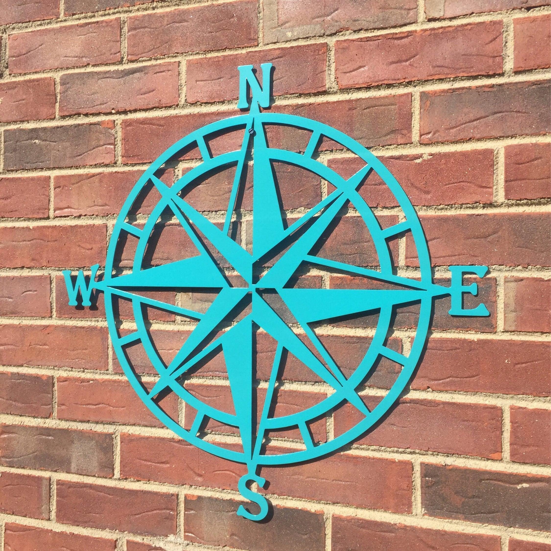 Outdoor Metal Wall Art Decor Compass Wall Decor Nautical Compasswall Art Nautical Metal