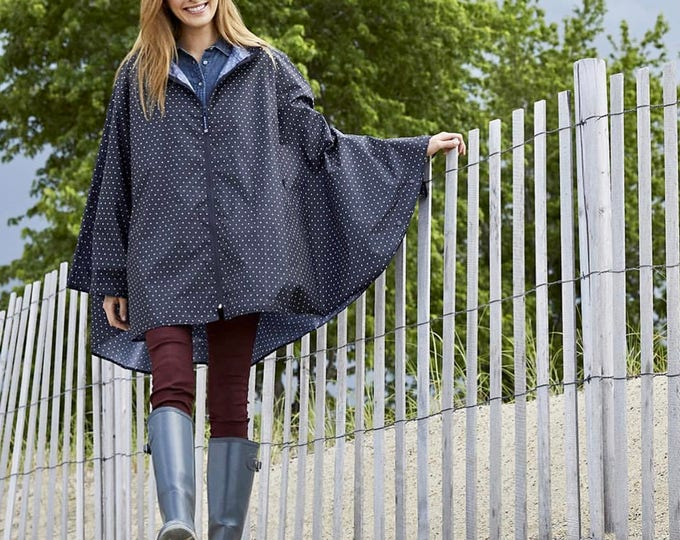 Monogrammed Pack N Go Poncho by Charles River Apparel, Monogrammed Rain Poncho, Monogrammed gifts - Pack-N-Go® Poncho, Polka Dot Rain Poncho