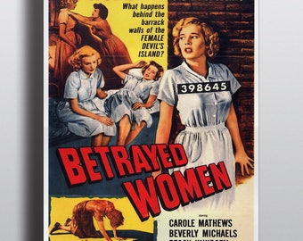 Betrayed Women, Women in Solitary - Movie Vintage Poster Print
