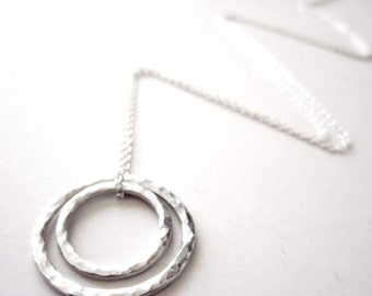 Necklace - Nestled Circles Necklace in Sterling Silver Circle Necklace - Mother's Necklace- Push Present - New Baby Gift - 925