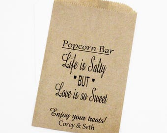 Wedding Favor Bags, Popcorn Bags, Candy Bags, Rustic Wedding