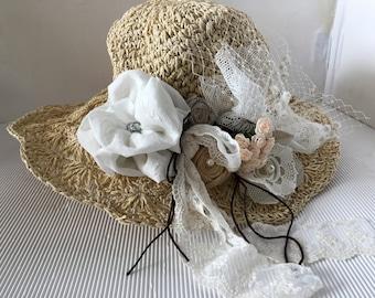 Summer Hat Cream or beige