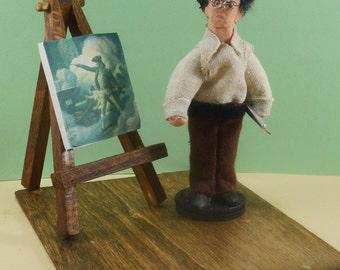 N.C. Wyeth Painter Illustrator Miniature Art Character Famous Artists