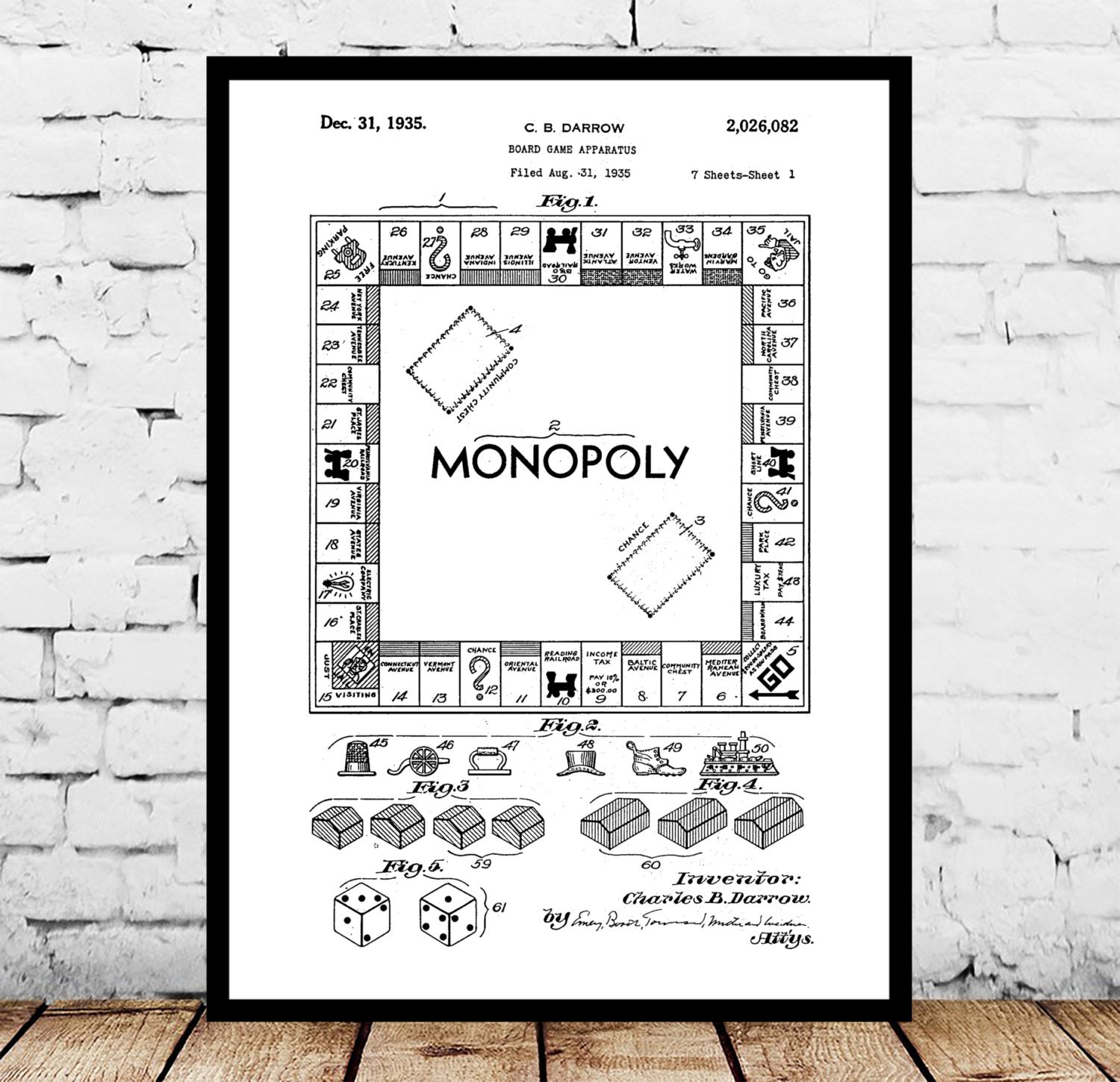 Monopoly poster monopoly patent monopoly print monopoly art monopoly poster monopoly patent monopoly print monopoly art monopoly blueprint monopoly wall art board game p017 malvernweather Choice Image