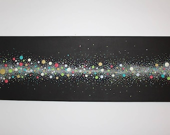 """Abstract acrylic painting """"Dots"""""""