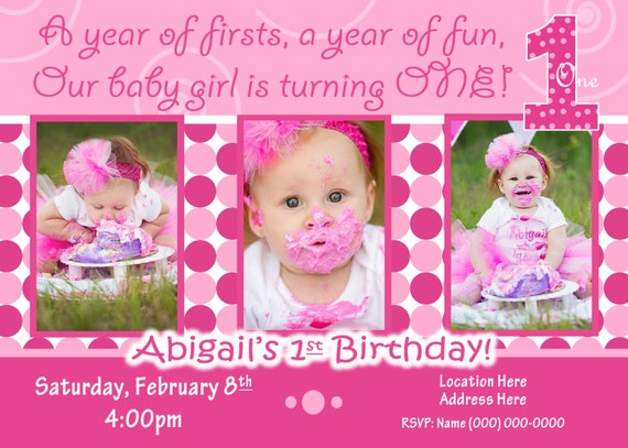 1st birthday girl invitation 1st birthday girl invite like this item stopboris Image collections