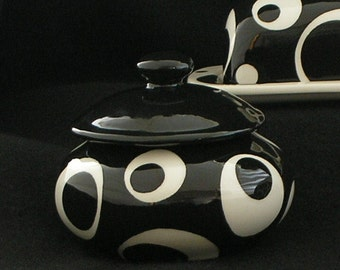 Solid Open Circle Sugar Dish. Sugar. Dish. Circle. Bowl. Handmade by Sara Hunter