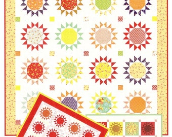Nutmeg Stars II Pattern - Star Quilt Pattern - Fig Tree Quilt Pattern - Fat Quarter Quilt Pattern - Free Shipping