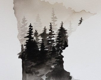 MN Trees - Black