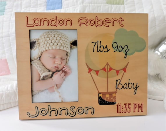 Baby gift personalized baby photo frame birth announcement newborn baby gift personalized baby photo frame birth announcement newborn infant boy or girl with baby date weight time from personalizemegifts on etsy studio negle